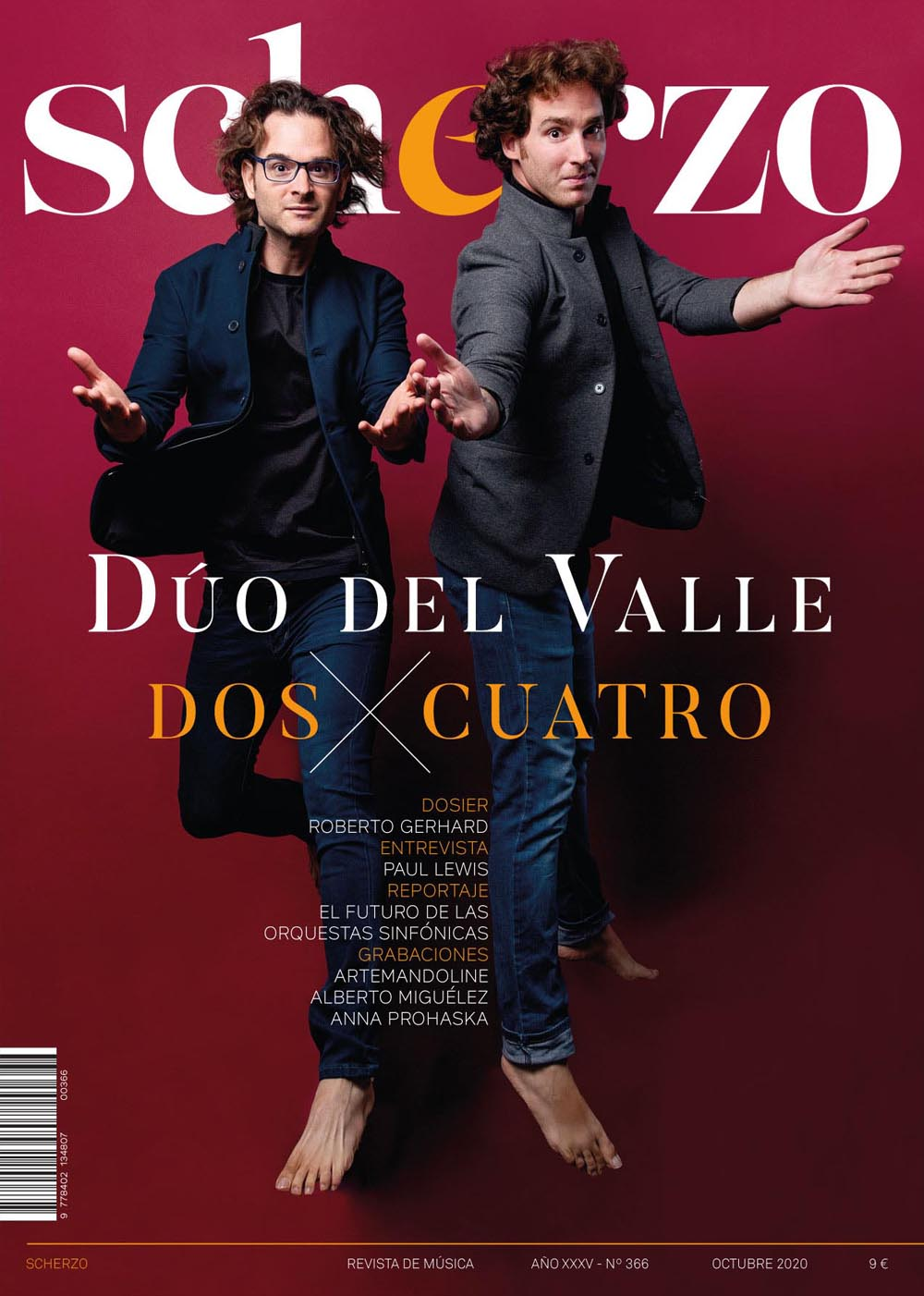 Diseño de portada revista Scherzo Duo Del valle
