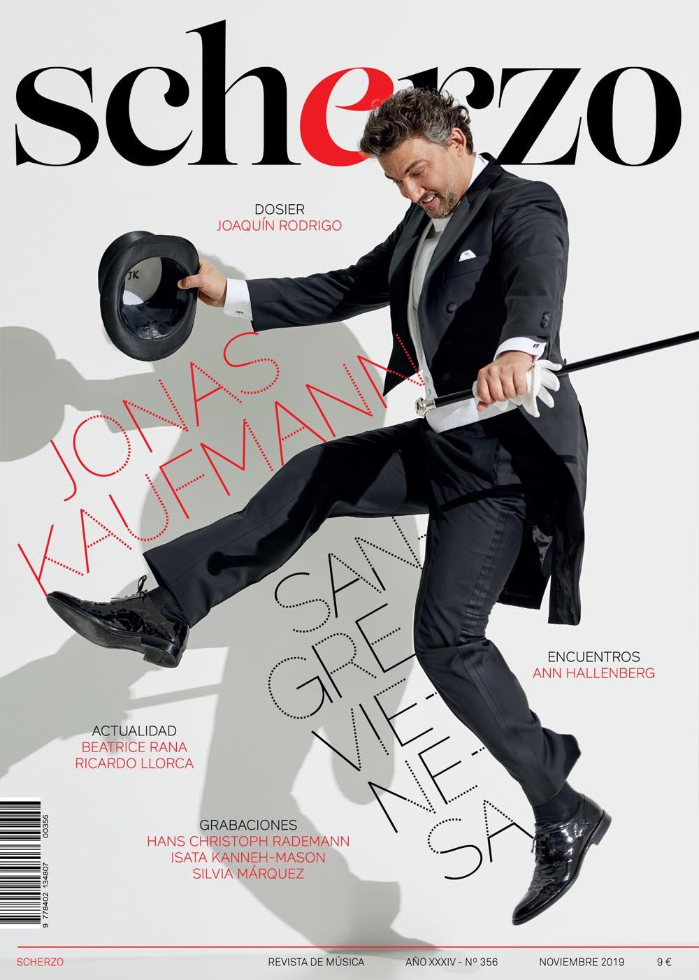Diseño de portada revista Scherzo Jonas Kaufmann