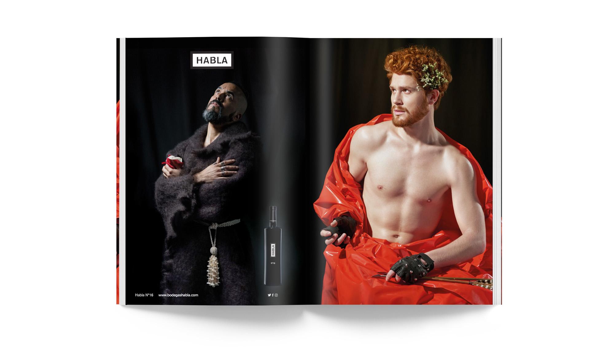 diseño de los vinos Habla - Valentín Iglesias - Publicidad Bodegas Habla revistas