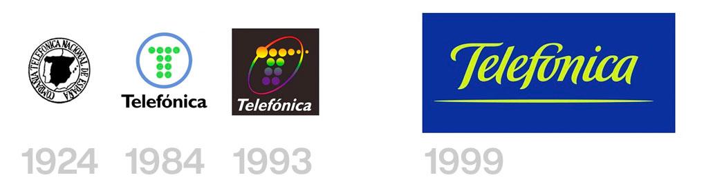 evolución logo telefonica